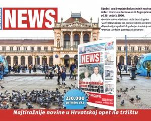 Zagreb News - newspaper layout & graphics
