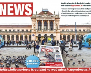 Zagreb News - newspaper layout & graphics